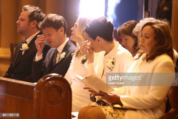 Family members of Les Murray attend the State Funeral service for Les Murray at St Mary's Cathedral on August 14 2017 in Sydney Australia Murray an...