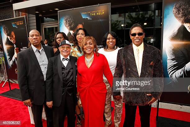 Family members of musician Bobby Byrd attend the Get On Up premiere at The Apollo Theater on July 21 2014 in New York City