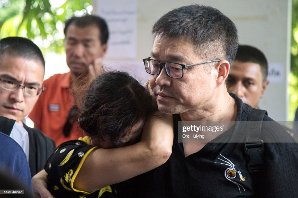 Family members of passengers onboard a capsized tourist boat arrives at the Vachira Phuket Hospital on July 7, 2018 in Phuket, Thailand. At least 33 people drowned and another 23 are missing after a tourist boat carrying mostly Chinese passengers capsized off the holiday island of Phuket in southern Thailand. The boat carried 105 people, including 93 tourists, 11 crew and one tour guide, and went down during severe weather on Thursday evening as authorities announced all of the dead are Chinese nationals.