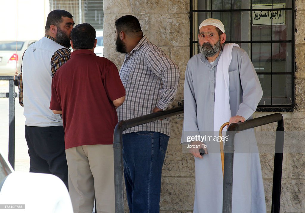 Family members of terror suspect Abu Qatada depart after meeting with him in the Jordanian State Security Court on July 7, 2013 in Amman, Jordan. Hardline Islamist cleric Abu Qatada arrived in Jordan earlier today after being deported from the UK to face terrorism charges in his home country.