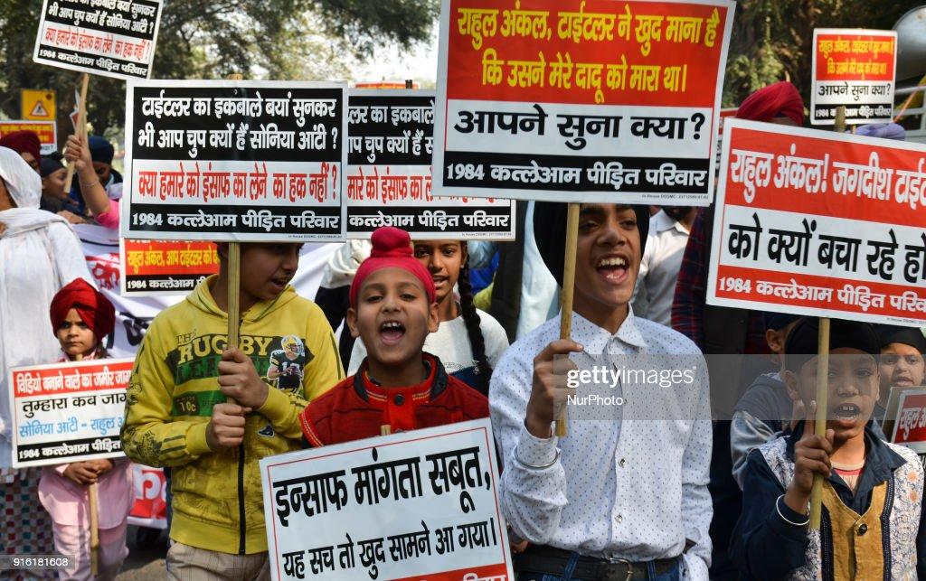 Protest against Congress leader Jagdish Tytler : Nachrichtenfoto