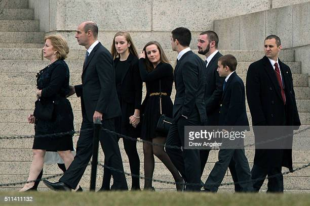 Family members of the late Supreme Court justice Antonin Scalia arrive for his funeral at the Basilica of the National Shrine of the Immaculate...