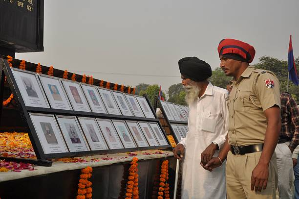 Family members of the police personal observing state level Police Commemoration Day at PAP on October 21 2016 in Jalandhar India On 21st October...