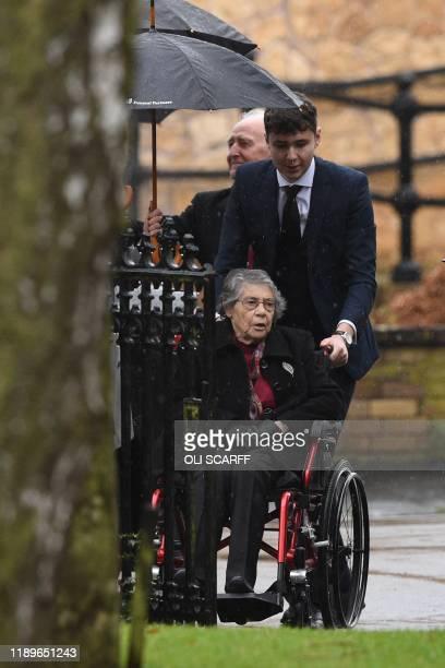Family members of the victim of the terror attack in Fishmongers' Hall on London Bridge University of Cambridge graduate Saskia Jones arrive for a...