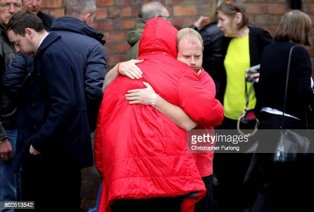Family members react after the families of the 96 Hillsborough victims were told the decision that the Crown Prosecution Service will proceed with...