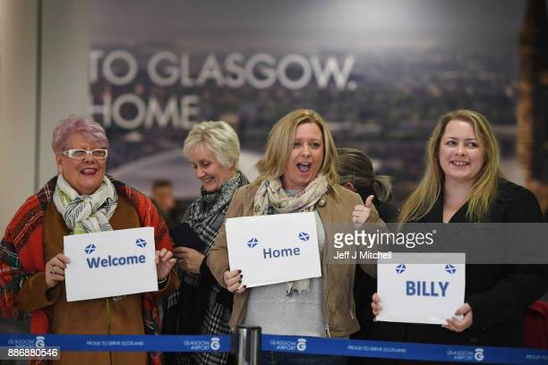 Family members welcome home Billy Irving one of the so called Chennai Six as he returns to Glasgow Airport following winning an appeal against...