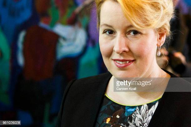 Family Minister Franziska Giffey attends the weekly government cabinet meeting on April 25 2018 in Berlin Germany High on the morning's agenda was...