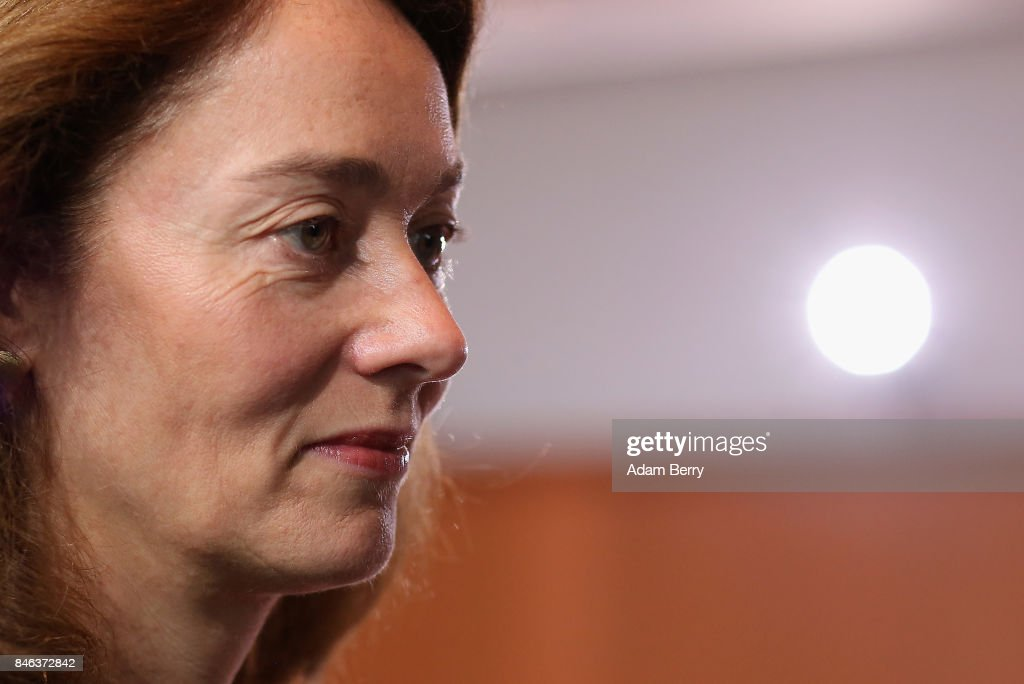 Family Minister Katarina Barley (SPD) arrives for the weekly German federal Cabinet meeting on September 13, 2017 in Berlin, Germany. High on the meeting's agenda was discussion of regional infrastructure.