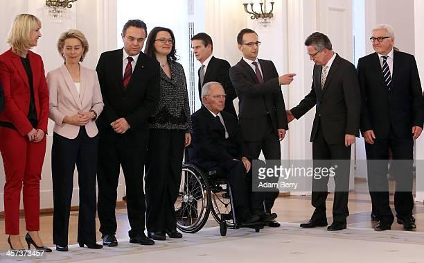 Family Minister Manuela Schwesig , Defense Minister Ursula von der Leyen , Agriculture and Consumer Protection Minister Hans-Peter Friedrich ,...