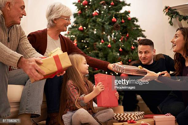 family moments at christmastime - beautiful granny stock photos and pictures
