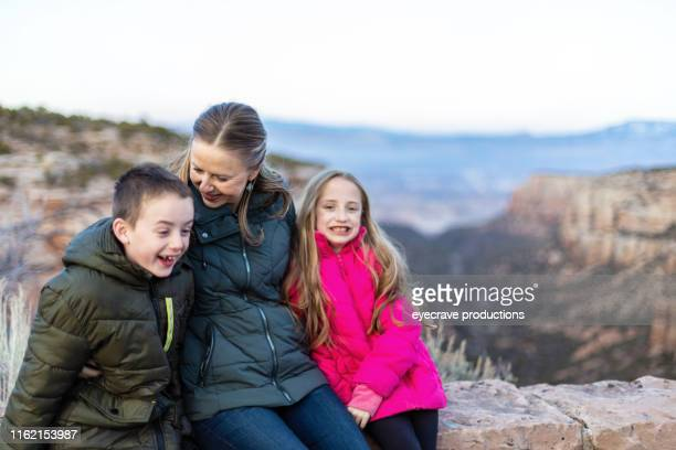 Family Mother Daughter and Son Outdoor Adventure the Western Colorado