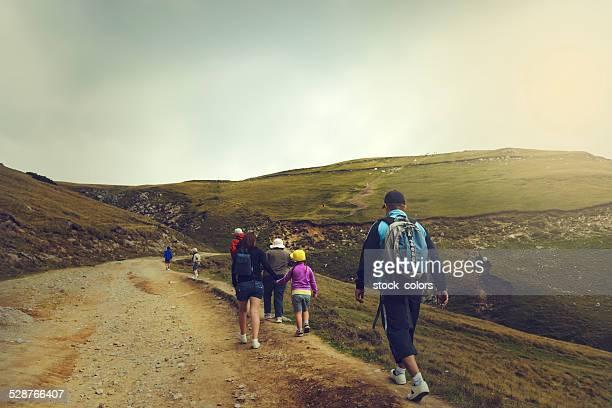family mountain trip