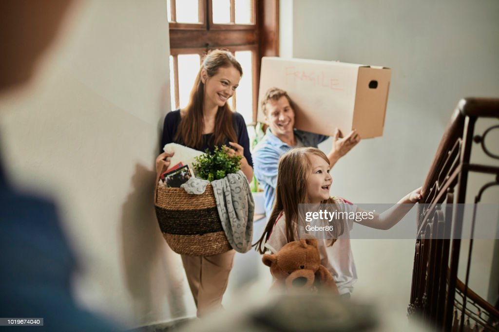 Family moving home : Stock Photo