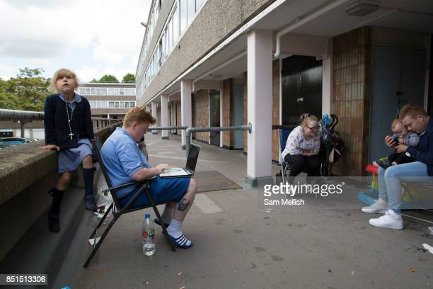 A family of 3 generations who live at the Aylesbury Estate a large housing estate located in Walworth on 15th June 2016 in South London United...