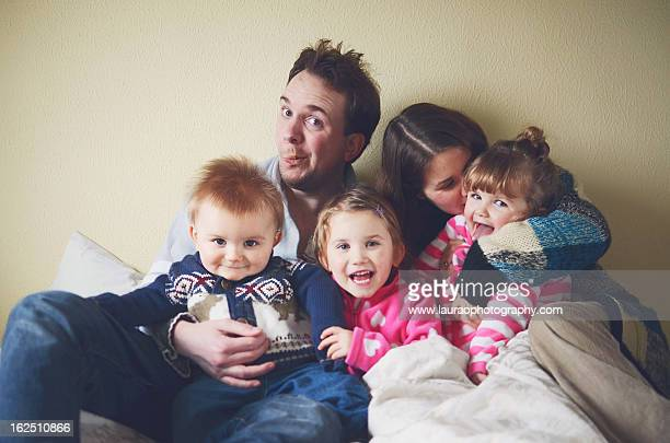 family of 5 - www picture com stock photos and pictures