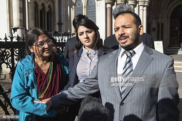 Family of Abbas Khan the British doctor who died in a Syrian jail last year his mother Fatima sister Sara and brother Afoze give a statment to the...
