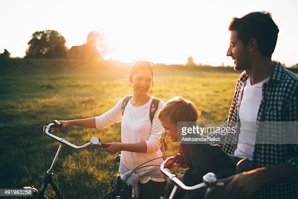 Family of bike lovers
