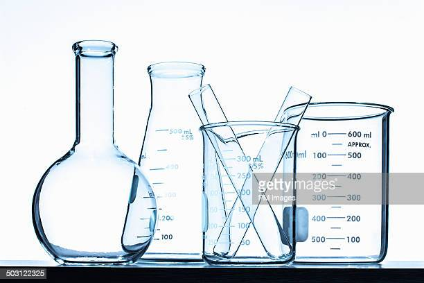 family of chemistry glassware - chemistry stock pictures, royalty-free photos & images