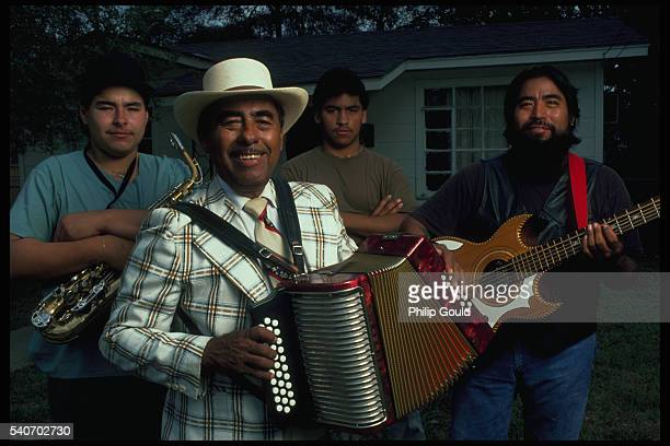 family of conjunto musicians - accordionist stock pictures, royalty-free photos & images