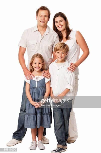 Vierköpfige Familie-isoliert