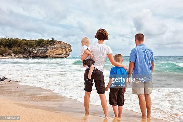 Family of Four on Hawaiian Vacation