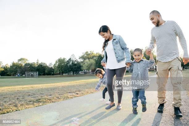 Familia de cuatro