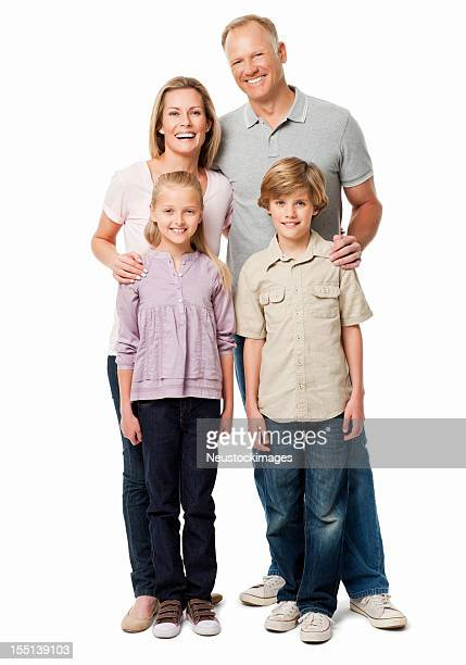 Family of Four Portrait - Isolated