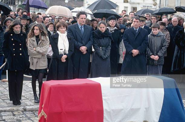 Family of Francois Mitterrand at his Funeral