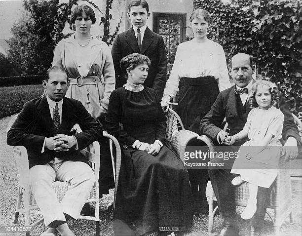 Family of GREECE. From left to right, Crown Prince George of Greece Princess Helen of Greece later Queen Mother of Romania Prince Paul of Greece...