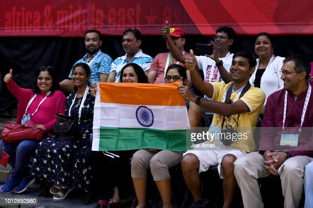 Family of India Girls are photographed before the game against Asia Pacific Girls during the Jr NBA World Championships Tournament in Kissimmee...