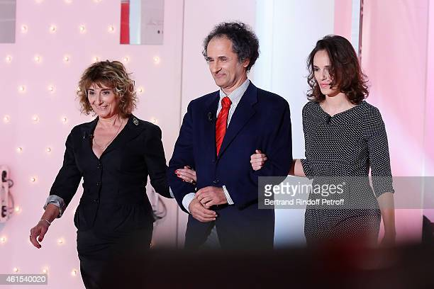 Family of Main guest of the show actor Patrick Chesnais his wife Josianne Stoleru their daughter Emilie Chesnais and brother of Josiane Doctor Serge...