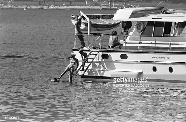 Family of Monaco Grace of MonacoAlbert and Caroline on summer holidays on July 19th 1965