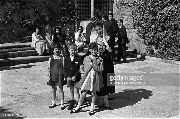 Family Of Monaco In Portugal Prince Albert And Princess Caroline In Portugal On Avril 14 1964