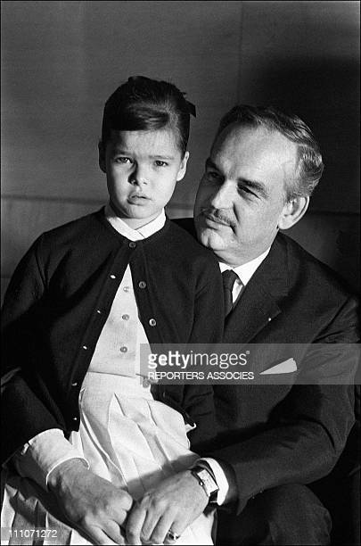Family Of Monaco In Portugal Princess Caroline And Father Prince Rainier In Portugal On Avril 14 1964