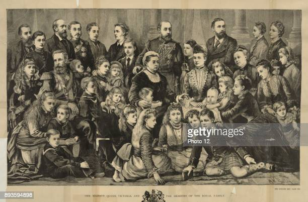 Family of Queen Victoria Queen of England from 18371901 Standing behind the Queen is the future King Edward VIII Photo12/UIG via Getty Images