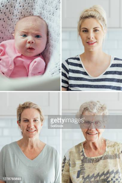 a family of strong women - great grandmother stock pictures, royalty-free photos & images