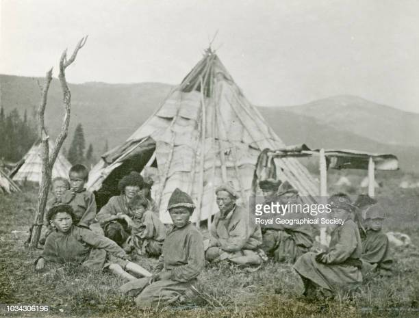 "Family of ""Urianhai"", This image is from an album of photographs taken and collected by M. P. Price during an expedition to Siberia, Mongolia ,..."