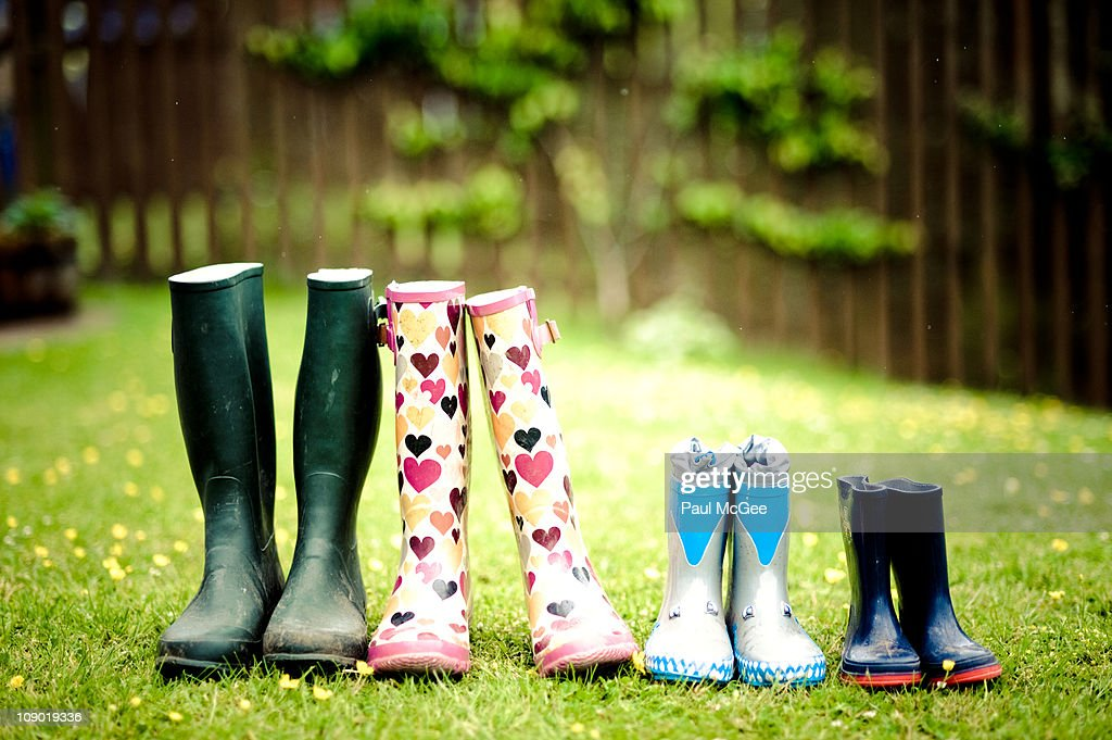 A Family of Wellies : Stock Photo