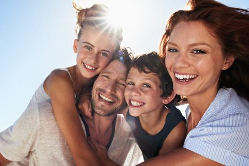 Family on beach - gettyimageskorea