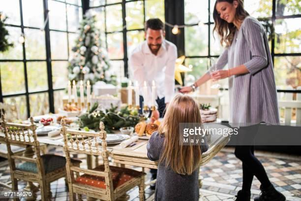 Family on Christmas.