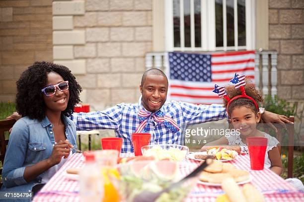 Family on Independence Day
