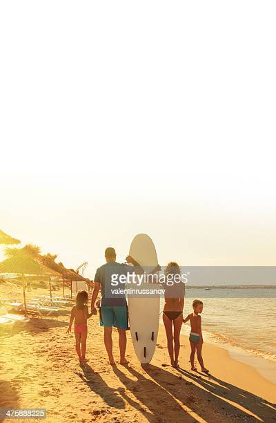 family on the beach - destin beach stock pictures, royalty-free photos & images