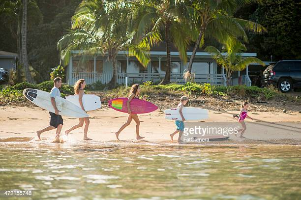 Family on Vacation in the Tropics