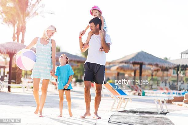 family on vacation. - tourist resort stock pictures, royalty-free photos & images