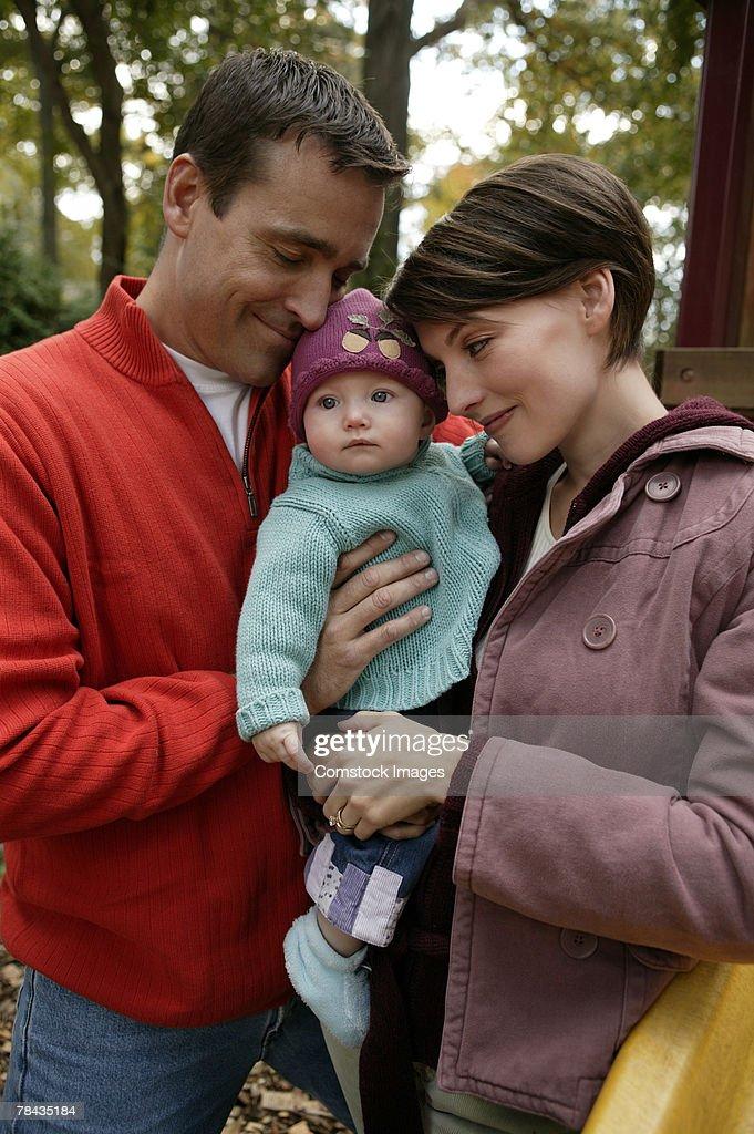 Family outdoor : Stockfoto