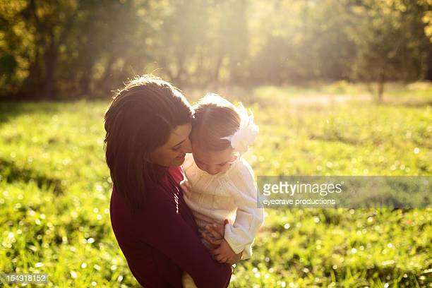 family outdoors mother daughter relationship