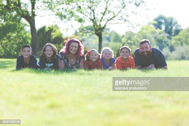 Family Outdoors on A Sunny Summer Day