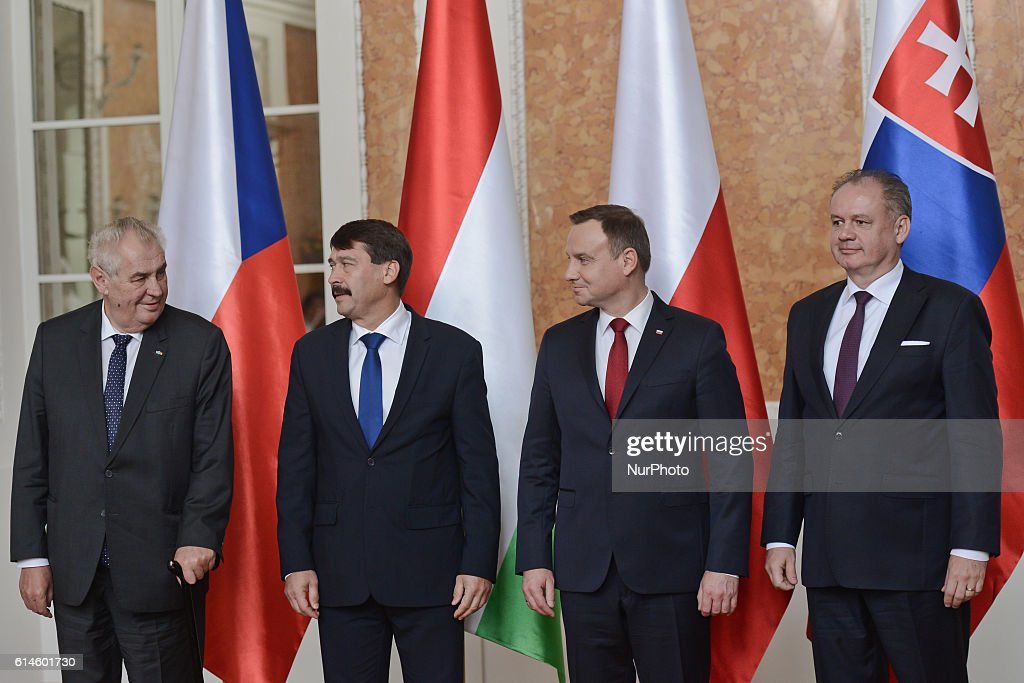 Poland: the opening day of the Visegrad Group summit in Lancut Castle