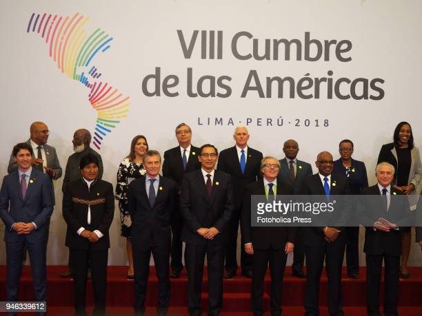 Family photo Presidents and Heads of State attending to the VIII Summit of the Americas The event takes place on April 13rd and 14th 2018 at Lima...