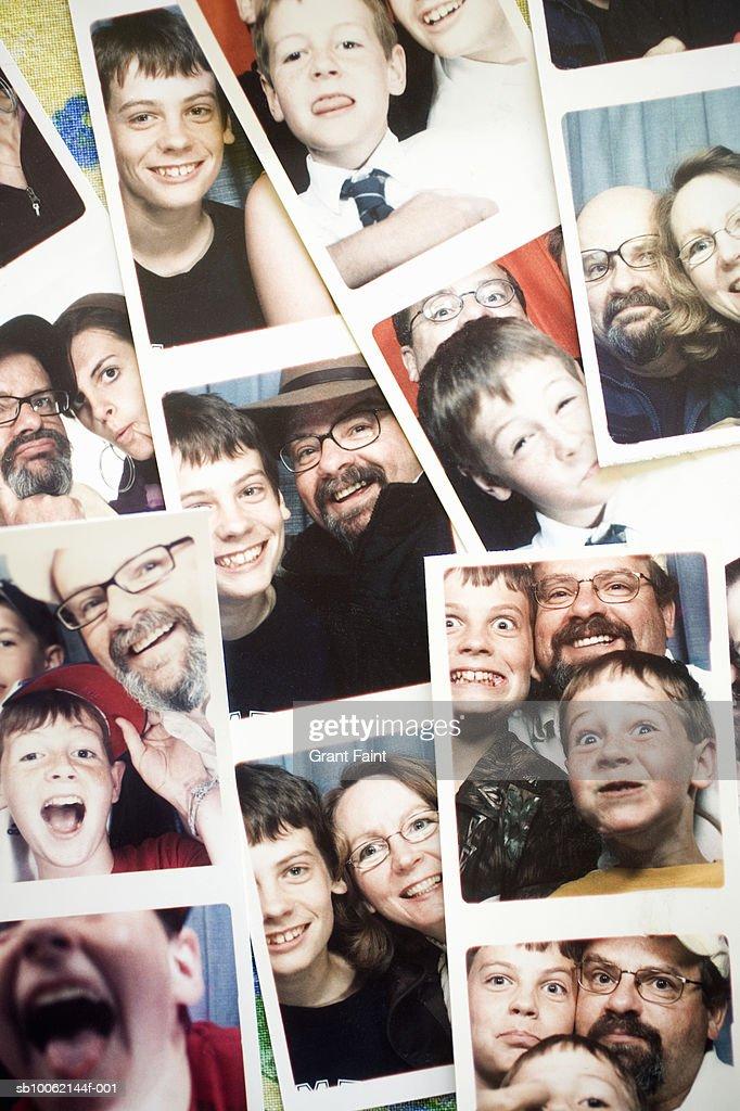 Family photo stripes : Stock Photo
